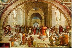 """The School of Athens"" by Rafael"