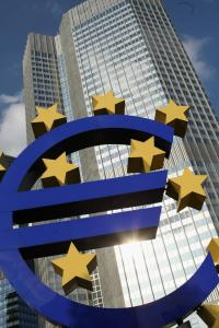The European Central Bank, all shiny and imposing.