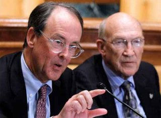 Erskine Bowles (D) and Alan Simpson (R)