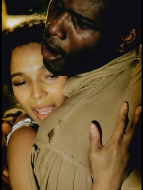 Sidney Poitier as Porgy and Dorothy Dandridge as Bess