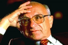 Milton Friedman.  He always had a wry smile like this.