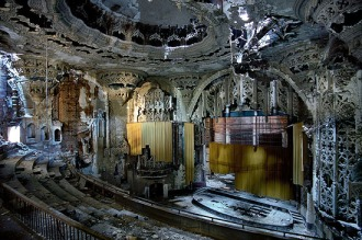 The United Artists Theatre in Detroit, built in 1928 but closed since 1974