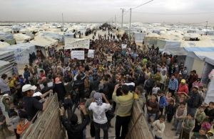 120,000 Syrians live in the Zaatari refugee camp in Jordan