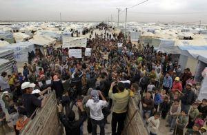 120,000 Syrians live in the Zaatari refugee camp in Jordan