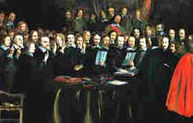 Signing the Peace of Westphalia