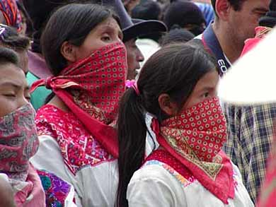 Zapatistas in Chiapas, Mexico.  They gave up their weapons but their struggle continues.