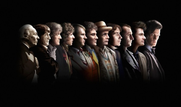 The 11 men who have played The Doctor, each with a different personality.  It's hard to keep up with sometimes.