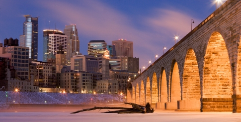 The Minneapolis Skyline.  They like to show off.