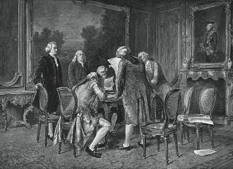 The Treaty of Paris, 1783. We official became a nation.