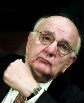 Former Fed Chair Volcker, apparently trying to make sense of Washington