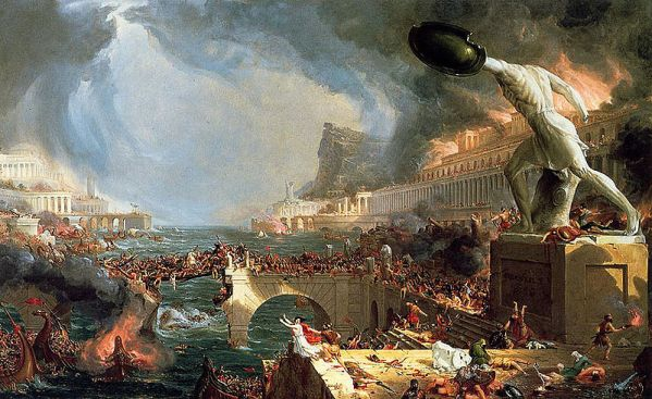 """Destruction"" from the series ""The Course of Empires"" by Thomas Cole, 1836"