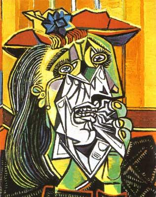 """Woman Weeping (Femme en Pleurs)"" by Pablo Picasso (1937)"