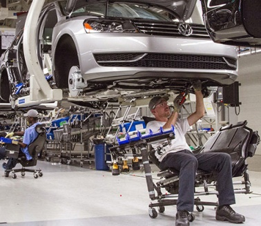 VW Chattanooga - a very modern, efficient auto plant.