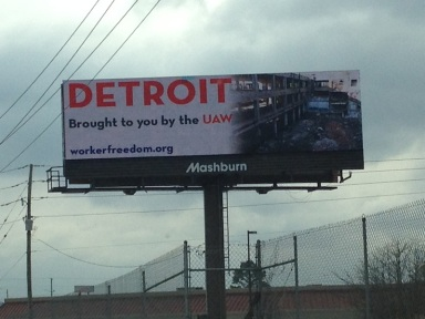 One of the billboards around Chattanooga.
