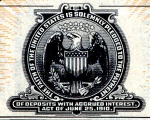 The seal of the Postal Savings System.