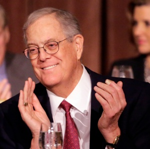 When David Koch is happy, the left isn't.