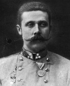 The Archduke Franz Ferdinand.  His empire died with him.