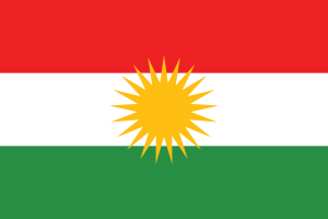 The flag of Kurdistan.