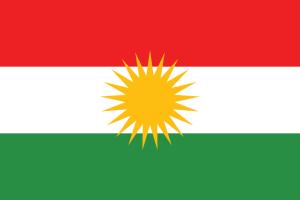 The flag of Kurdistan.