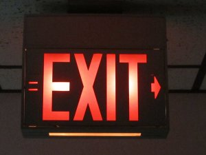 The exits are carefully market, please don't panic.