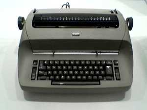 IBM Selectric.  Touch typing is only more useful today.