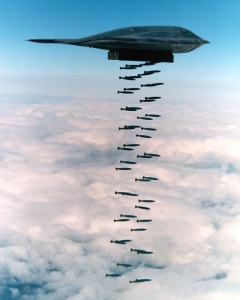 A B-2 Spirit doing what it was designed to do.