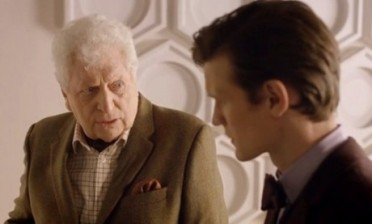 "Tom Baker's cameo in ""Day of the Doctor."""