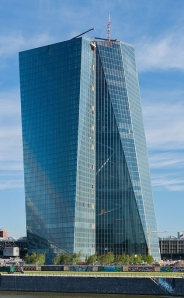 ECB's new digs in Frankfurt.  Note that it looks like it's leaning a bit ...