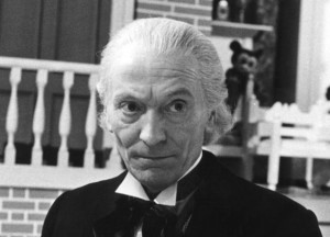 "William Hartnell as Doctor #1.  Note the tie, last seen in ""Mummy on the Orient Express"""