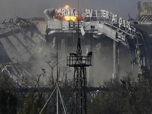 Prokofiev Airport in Donetsk.  It's a ruin.