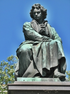 The van Beethoven Monument in Vienna.
