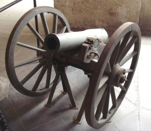 "A French ""la Hitte"" canon from 1859.  Deadly accurate in trained hands."