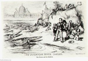 """""""The American River Ganges"""" by Thomas Nast, Published in Harper's 1871."""