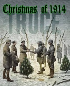 A depiction of the Truce, as it passed into a terrific legend of Christmas peace,