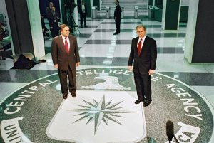 George Tenet, CIA Director at the time of the torture, with President GW Bush.