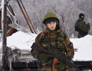 Russian rebels in Eastern Ukraine, fighting through the Winter.