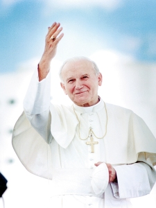Saint John Paul II.  Would he approve?  Sure.