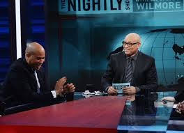 Wilmore with Sen Corey Booker (D-NJ) on his panel.  He is the first, and probably the last, politician on The Nightly Show.