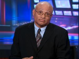 "Larry Wilmore's classic ""What did you expect?"" look.  The real face of Black America, 100%."