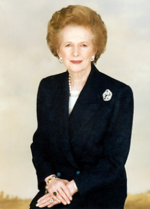 Margaret Thatcher.  Hey, stop throwing things at the screen!