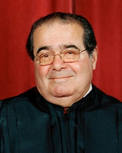 Justice Antonin Scalia. It's the argle that makes him smile more than the bargle.