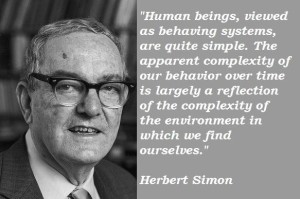 A good quote from Herb Simon.