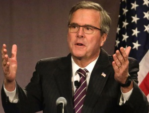 Has Jeb given up? No, but he looks like it.