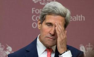 Here's a guy we let twist in the wind.  Secretary John Kerry, the man that was trounced by GW Bush.  Yes, that Bush.