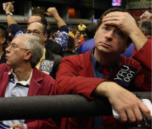 Bad stock news requires a picture like this.  Apparently, these traders still exist.
