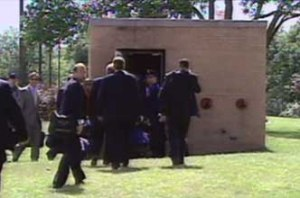 GW Bush heading into the SAC bunker on 9/11.