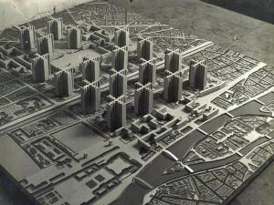 Plan by Le Corbusier (Eduard Generet) for remodeling Paris, 1925