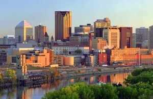Downtown St Paul, Minnesota.  My home town.