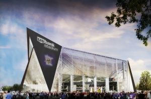 US Bank Stadium will be home to the Vikings next year.  I'm still not impressed (though I'm paying for this thing).