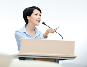 A podium may feel nice, but you have to trust your audience more to make a real connection.